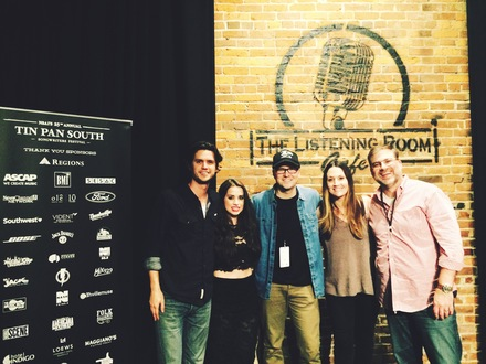 Pictured (L to R): Steve Moakler, Maggie Chapman, Luke Laird, Natalie Hemby, Barry Dean