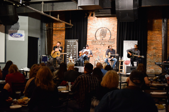 Pictured (L- R):  James Otto, Trent Tomlinson, Clint Daniels, Anthony Smith. Photo: Bev Moser