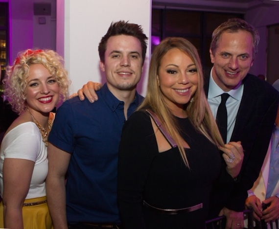 Pictured (L-R): Cam, Josh Dorr, Mariah Carey, Tom Poleman (President of National Programming Platforms, iHeart Media).