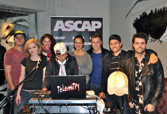 Pictured (L-R): Producers Will Weatherly, Sarah Emily Parish and Femke; special guest host and DJ Jesse Frasure; ASCAP's LeAnn Phelan; and producers Andy Albert, Jordan Schmidt and Ian Keaggy.