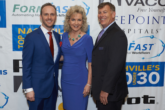 Pictured (L-R): Rusty Gaston, Lisa Harless, and Brian Nock.