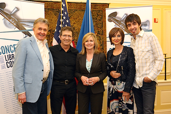 Pictured (L-R): Bill Anderson, Mac Davis, U.S. Rep. Marsha Blackburn (R-TN), Pam Tillis, and Mo Pitney