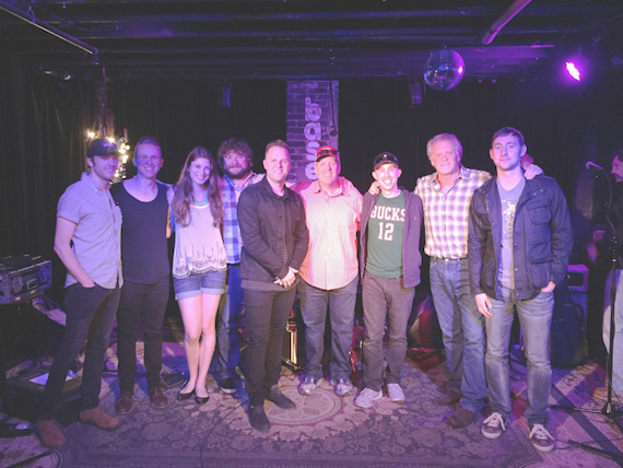 Pictured (L-R): Combustion Music's Kenley Flynn, AJ Pruis, Julia Scheider-Williams, Chris Van Belkom, Matthew West, Atlas Music Publishing's Richard Stumpf, Ryan Brodhead, and Combustion's Chris Farren and Ashley Gorley.