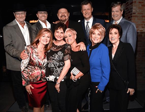 Pictured (L-R): Marsha Blackburn, Nancy Jones, Lorrie Morgan, Jeannie Seely, Jan Howard, Tracy Lawrence, John Rich, Moe Bandy, Bill Cody, Karl Dean.