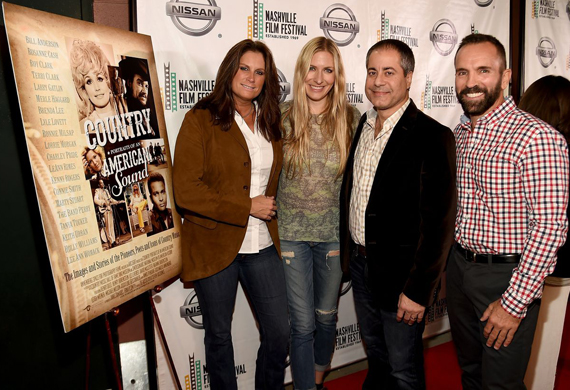 Pictured (L-R): Terri Clark, Holly Williams, director/producer Steven Kochones, and producer Joe Russo. Photo: Rick Diamond/Getty Images
