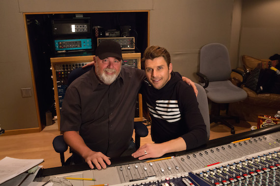 James Stroud (L) and Robby Johnson in the studio.