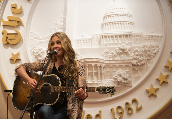 Sunny Sweeney performing at The Washington Times' Wounded Warriors luncheon. Photo: Khalid Naji-Allah