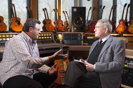 Vince Gill (L) with Dan Rather. Photo: Zito Zito