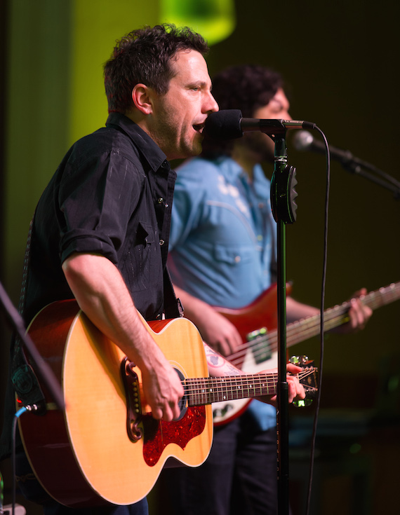Will Hoge performs during the BMI Tailgate Party lineup announcement at BMI.