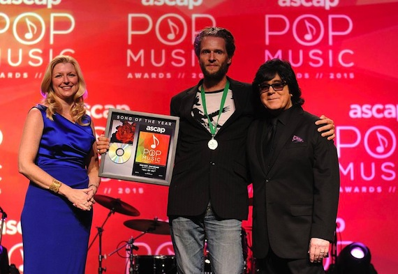 ASCAP's Elizabeth Matthews, Song of the Year writer Toby Gad, and ASCAP's John Titta.