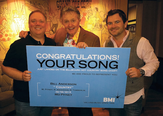 Pictured (L-R): Publicist Kirt Webster, Bill Anderson & Anderson's Manager Lee Willard (Straight 8 Entertainment).