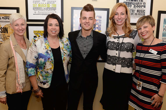 Pictured (L-R): Cristy McNabb, Southwest Airline's Community Affairs & Grassroots Regional Leader Ana Schwager, Recording Artist Chase Bryant, Country Music Hall of Fame and Museum's VP of Development Lisa Purcell and Director of Education and Public Programming Ali Tonn. Photo: Jason Davis, Getty Images