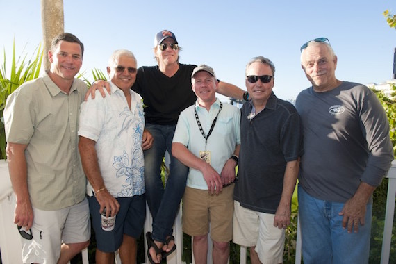 Pictured (L-R): BMI's Mark Mason, Mayor Craig Cates, Jack Ingram, SunTrust Bank's Earl Simmons, BMI's Jody Williams and KWSWF's Charlie Bauer gather for a photo at the Ocean Key Sunset Pier Kick.