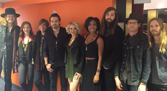 Pictured (L-R): Michael Hobby, Kristen Rogers, Bill Satcher, Zach Brown, Morgan Hebert, Whitney Coleman, Graham Deloach, Brian Purwin, Ryan Scarborough Photo: Republic Nashville