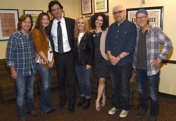 Pictured (L-R): Singer/Songwriters Jeff Hanna and Matraca Berg, Country Music Hall of Fame and Museum's Peter Cooper, Singer/Songwriter Kim Carnes, Country Music Hall of Fame and Museum's Abi Tapia, and singer/songwriters Billy Panda and Dave Ellingson. Photo: Rick Diamond, Getty Images