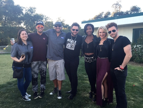 Pictured (L-R):  KNCI Music Director Bre, Love and Theft's Stephen Barker Liles, KNCI Program Director Byron Kennedy, The Swon Brothers' Zach Swon, A Thousand Horsettes' Whitney Coleman and Morgan Hebert, and The Swon Brothers' Colton Swon
