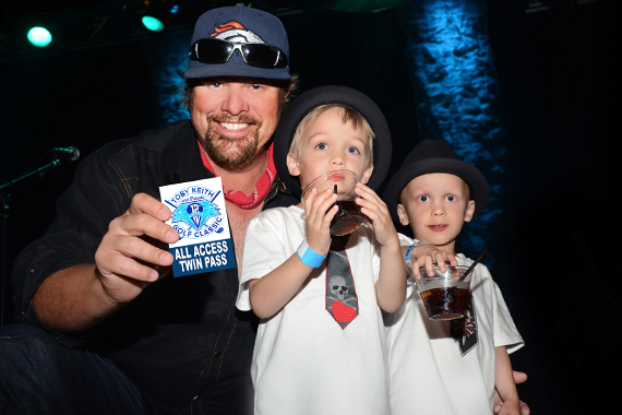 Pictured (L-R): Toby Keith, Sawyer Beard, and McCoy Beard