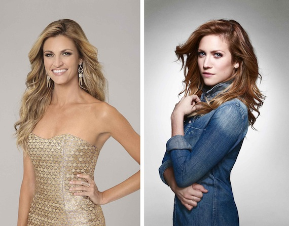 Erin Andrews and Brittany Snow