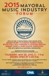 The 2015 Mayoral Music Industry Forum Extends Invitation
