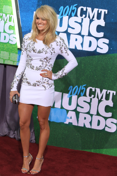Carrie Underwood at the CMT Music Awards. Photo: Bev Moser