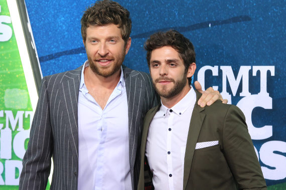 Brett Eldredge, Thomas Rhett. Photo: Bev Moser.