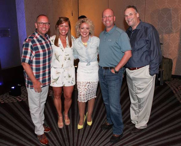 Pictured (L-R): Charlie Morgan (WLHK Indianapolis Market Manager), Lesly Simon (Arista Nashville, VP Radio Promotions), Cam, Clay Hunnicutt (EVP & GM National Programming Platforms iHeartMedia), Bill Mayne (Executive Director of CRB/CRS)