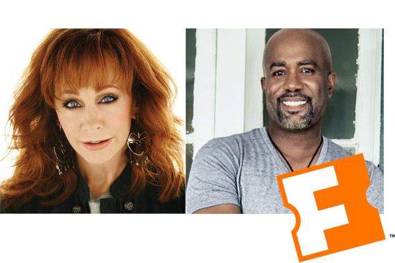 Reba and Darius Rucker.