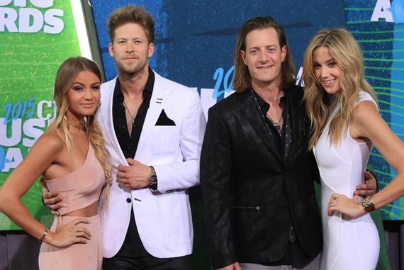 Pictured (L-R): Brittney Marie Cole, Brian Kelley, Tyler Hubbard, Hayley Stommel. Photo: Bev Moser.