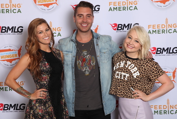 Pictured (L-R:) Cassadee Pope, Nick Fradiani, RaeLynn. Photo: BMLG