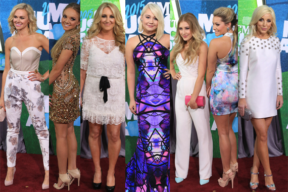 Pictured (L-R): Laura Bell Bundy, Danielle Bradbery, Lee Ann Womack, RaeLynn, Maddie & Tae, Ashley Monroe. Photo: Bev Moser.