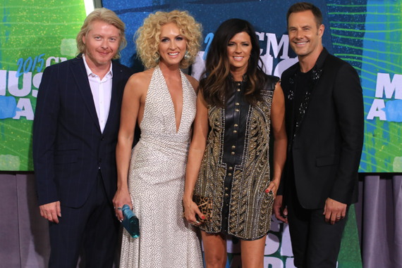 Pictured (L-R): Little Big Town's Phillip Sweet, Kimberly Schlapman, Karen Fairchild, Jimi Westbrook. Photo: Bev Moser.