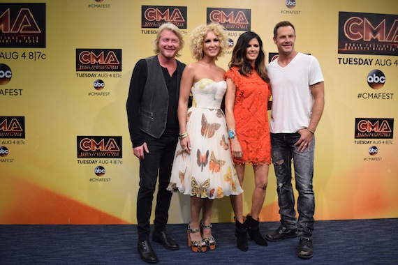 Little Big Town backstage at LP Field following their performance at CMA Music Festival last weekend. Photo: Bev Moser