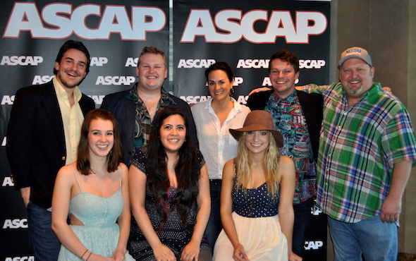 Pictured (L-R): top row- Nick Carpenter, Kyle Crownover, ASCAP VP LeAnn Phelan, Zach Russell, MTSU Songwriting Concentration Coordinator Odie Blackmon bottom row- Maybe April's Alaina Stacey, Kristen Castro, and Katy Bishop