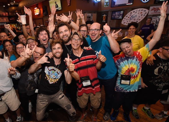 The Swon Brothers pose with campers at ACM Lifting Lives Music Camp
