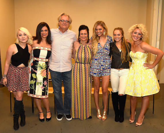 L-R:  RaeLynn, Angaleena Presley, Country Music Hall of Fame and Museum CEO Kyle Young, CMT Senior Vice President of Music Strategy Leslie Fram, Kelsea Ballerini, Danielle Bradbery, and Cam. Photo by Rick Diamond, Getty Images