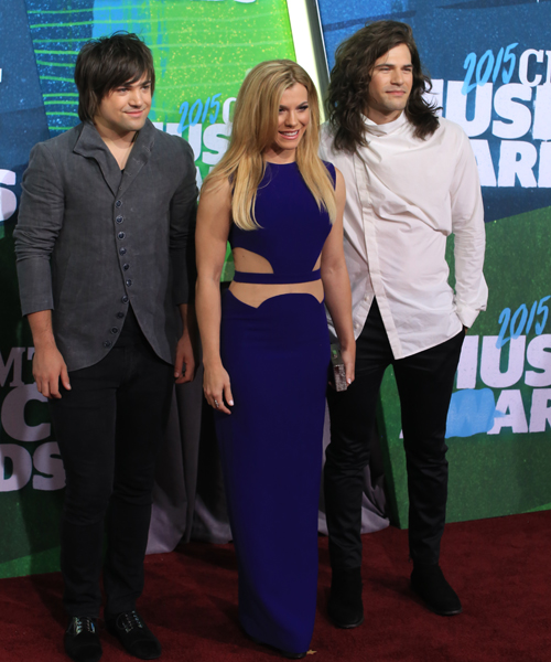 Pictured (L-R): The Band Perry's Neil, Kimberly, Reid. Photo: Bev Moser.