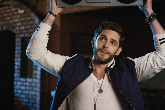 "Thomas Rhett in the TK McKamy-directed music video for ""Crash and Burn."""