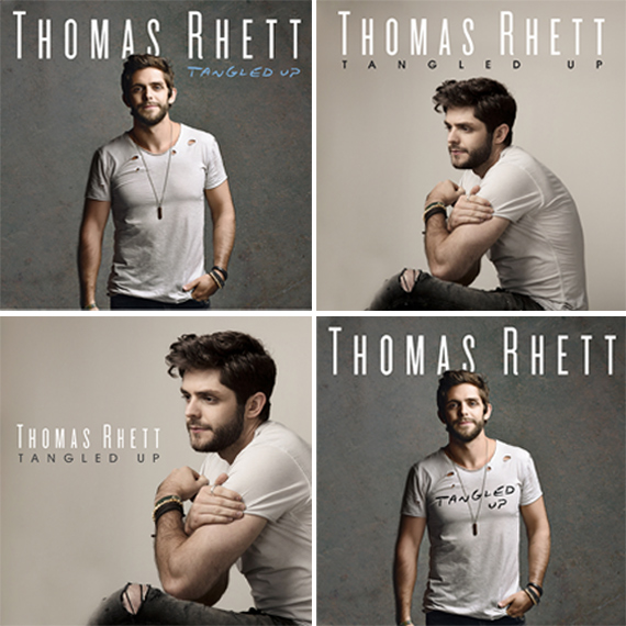 Fans can vote for the album cover for Thomas Rhett.