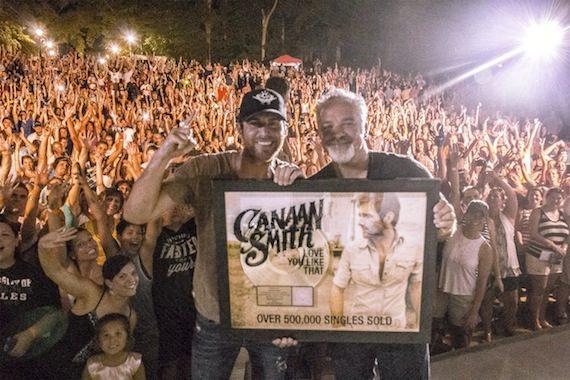 Pictured Left to Right: Mercury Nashville's Canaan Smith, Mercury Nashville's VP Promotion Damon Moberly. Photo: Carl Ratajski