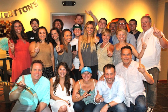 Kelsea Ballerini and team celebrate.