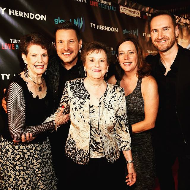 Ty Herndon and family at the Concert For Love and Acceptance at City Winery.