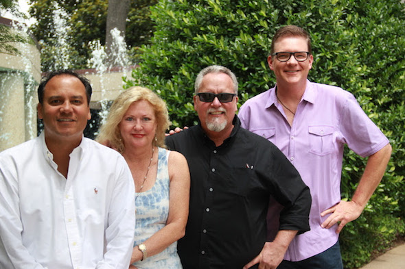 Pictured (L-R): Eleven Eleven's Jason Morris and Jewel Coburn, Max T. Barnes and BMI's Perry Howard