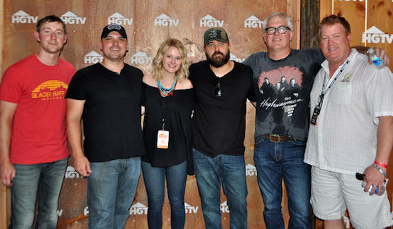 Pictured (L-R): Ashley Gorley, Jon Nite, ASCAP's Beth Brinker, Jonathan Singleton, Rivers Rutherford and ASCAP's Mike Sistad