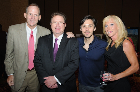 BMI's Dan Spears, IBA President/CEO Dennis Lyle, Charlie Worsham, IBA outgoing Board Chair and WJIL/WJVO- Jacksonville GM Sarah Hautala