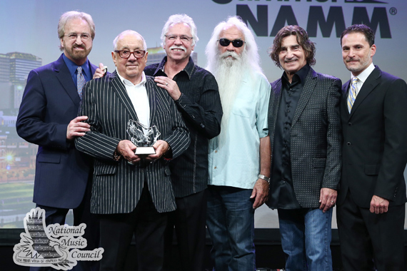 Jim Halsey (Pictured second from left) with the Oak Ridge Boys and Dr. David Sanders.