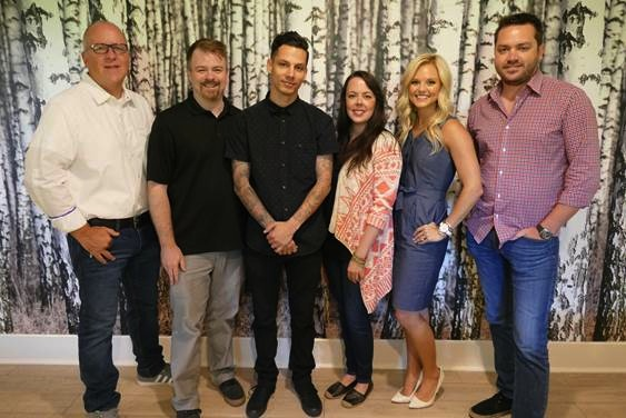 Pictured: Phil May (WC), Ben Vaughn (WC), Devin Dawson, Melissa Spillman (Neon Cross), Brittany Shafer (Loeb & Loeb), Travis Carter (WC)