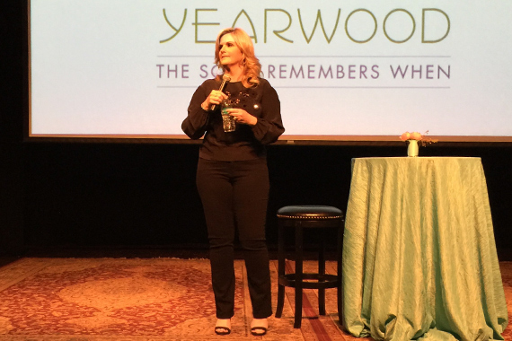Trisha Yearwood during media interviews for her Country Music Hall of Fame and Museum preview. Photo: Momentsbymoser