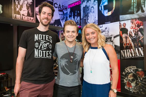 Pictured (L-R): CEO/Founder Philip Gilley, Hunter Hayes, and CMA Community Outreach Manager Tiffany Kerns at the opening of the Notes for Notes studio at the Joseph B. Whitehead Boys and Girls Club in Atlanta Saturday, July 18.