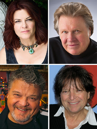 Pictured clockwise from top left:  Rosanne Cash, Mark James, Even Stevens, Craig Wiseman