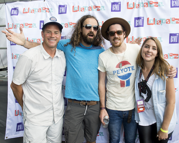 BMI's Mark Mason, members of Black Pistol Fire Eric Owen and Kevin McKeown and C3's Margaret Galton